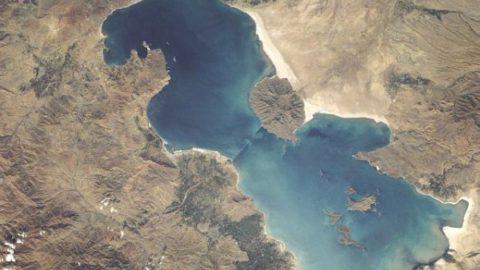 پولک های نمکی دریاچه ارومیه+تصویر