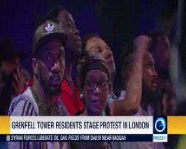 ساکنان-برج-حادثه-دیده-گرنفل-لندن-تظاهرات-کردند