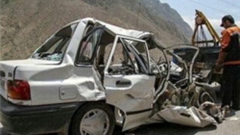 برخورد ۴ دستگاه خودروی سواری در محور مرند ـ صوفیان