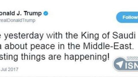 ترامپ پس از صحبت با پادشاه عربستان:اتفاقات جالبی در حال رخ دادن است
