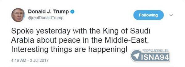 ترامپ-پس-از-صحبت-با-پادشاه-عربستان:اتفاقات-جالبی-در-حال-رخ-دادن-است