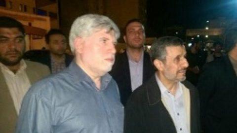 حضور احمدی نژاد در بیمارستان بقیه الله برای دیدار و عیادت از بقایی