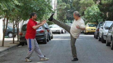 زوج هنری احمدزاده – شهریاری در حال تمرینات رزمی