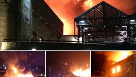 آتش سوزی بزرگ این بار در مرکز تجاری لندن