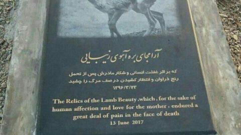اولین سنگ قبر حیات وحش در ایران