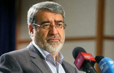 وزیر کشور: با خشونت پراکنی و رعب و وحشت برخورد میشود