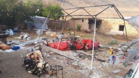 آتش در چادر زلزله زدگان