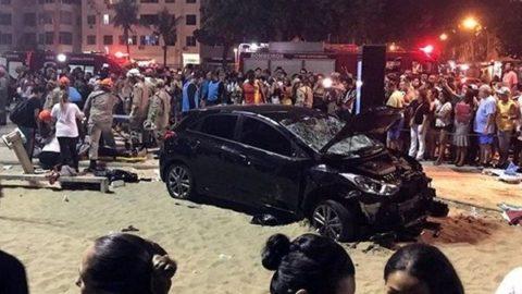 ورود خودرو به داخل جمعیت در ریو دو ژانیرو / ۱۵ نفر زخمی شدند
