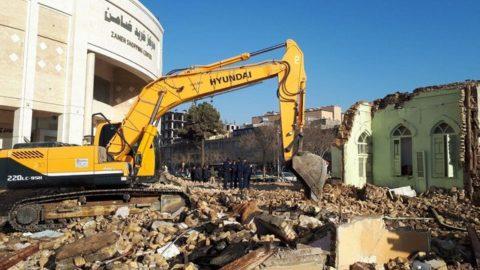 مسجد صفوی مشهد تخریب شد/مهلت نیم ساعته رای دادستانی را برنگرداند
